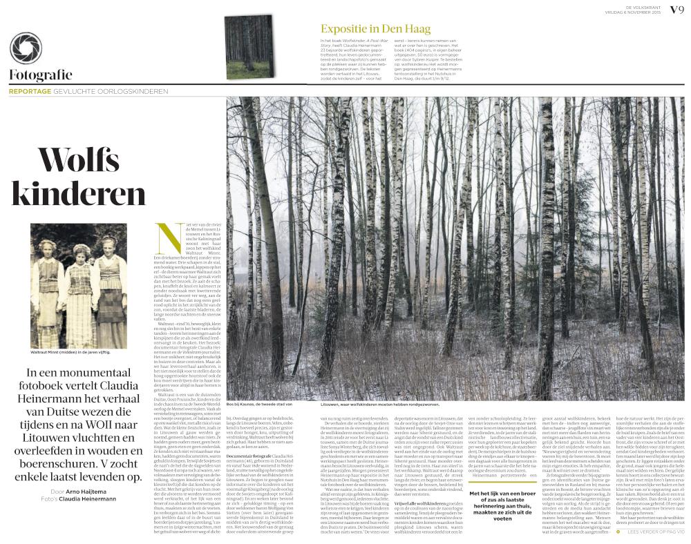 Artikel Volkskrant 6.11.2015